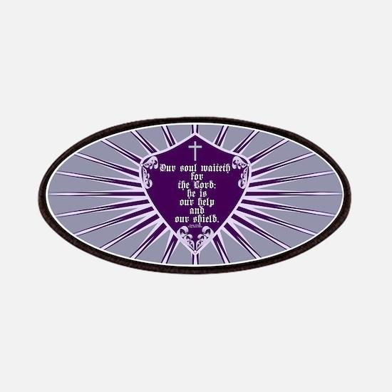 Psalm 33:20 Shield Purple Patches