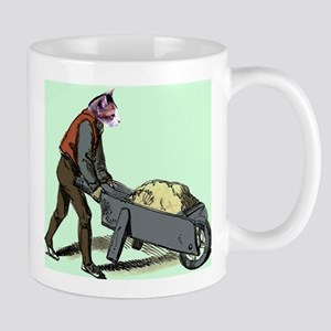 Wheel Barrow Cat Mug