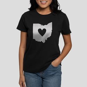 Heart Ohio Women's Dark T-Shirt