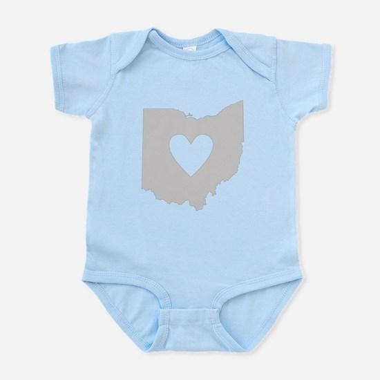 Heart Ohio Infant Bodysuit