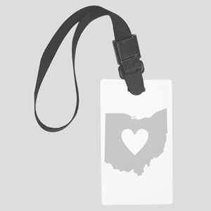Heart Ohio Large Luggage Tag