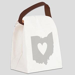 Heart Ohio Canvas Lunch Bag