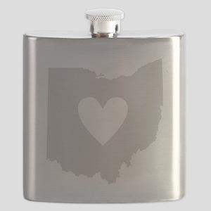 Heart Ohio Flask