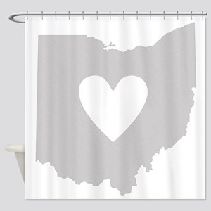 Heart Ohio Shower Curtain