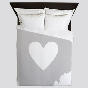 Heart Ohio Queen Duvet