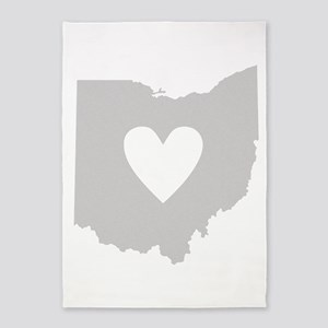 Heart Ohio 5'x7'Area Rug