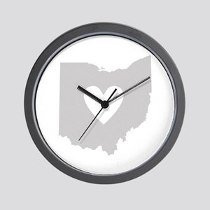 Heart Ohio Wall Clock
