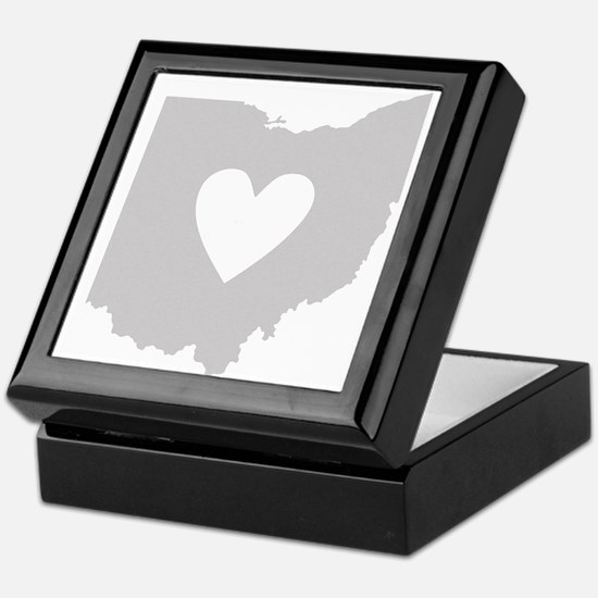 Heart Ohio Keepsake Box