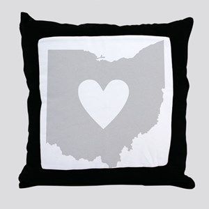 Heart Ohio Throw Pillow