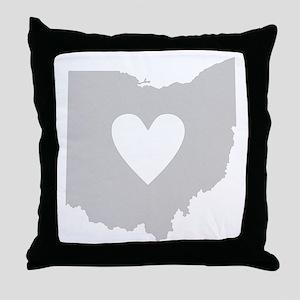 Heart Ohio Throw Pillow