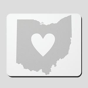 Heart Ohio Mousepad