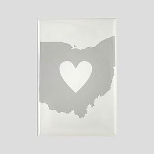 Heart Ohio Rectangle Magnet