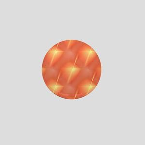 Fractal Orange Star Mini Button