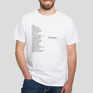 GCC Season 1 in Black on T shirt