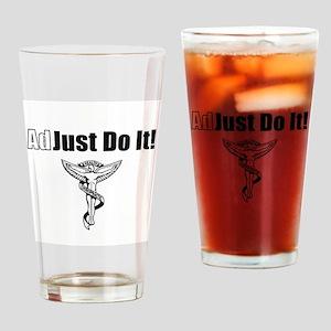 Adjust Do It- black Drinking Glass