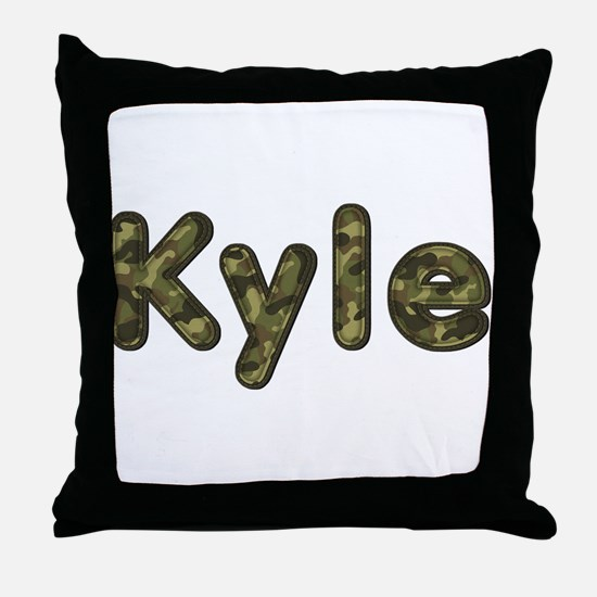 Kyle Army Throw Pillow