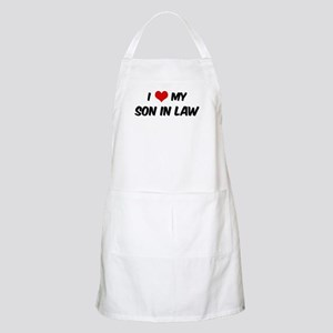 I Love My Son In Law BBQ Apron