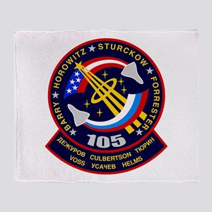 STS-105 Discovery Throw Blanket