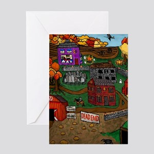 Halloween Town Greeting Cards
