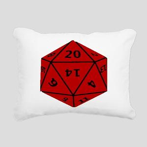 Geeky Dice Rectangular Canvas Pillow