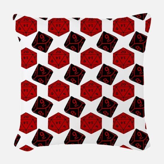 Geek Dice Woven Throw Pillow