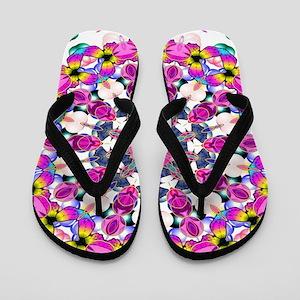 Pink Passion Kaleidoscope Flip Flops
