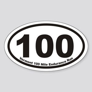 Vermont 100 Mile Endurance Run Euro Oval Sticker