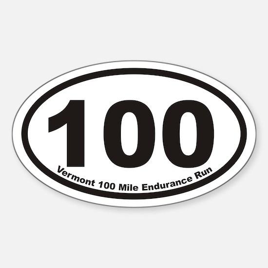 Vermont 100 Mile Endurance Run Euro Oval Decal