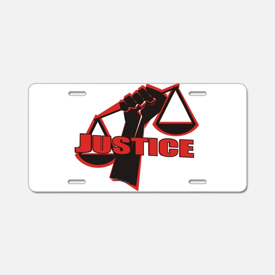 Justice Aluminum License Plate