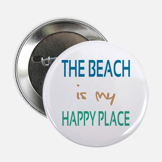 "The Beach Is My Happy Place 2.25"" Button"