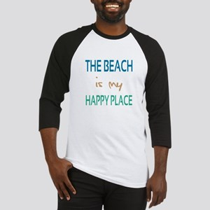 The Beach Is My Happy Place Baseball Jersey