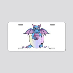Cute Baby Dragon in Cracked Egg Blue and Purple Al