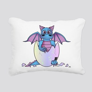 Cute Baby Dragon in Cracked Egg Blue and Purple Re