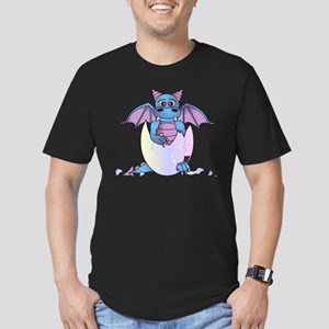 Cute Baby Dragon in Cracked Egg Blue and Purple T-