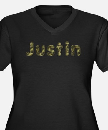 Justin Army Plus Size T-Shirt