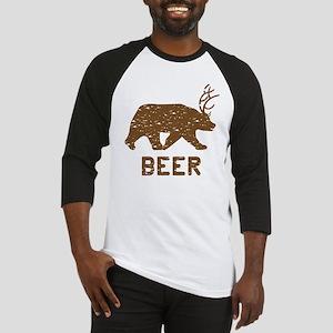 Bear + Deer = Beer Baseball Jersey