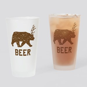 Bear + Deer = Beer Drinking Glass