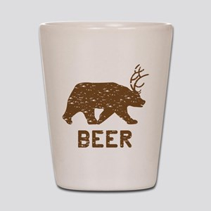 Bear + Deer = Beer Shot Glass