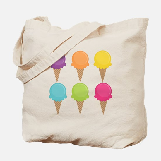 Colorful Waffle Cones Tote Bag