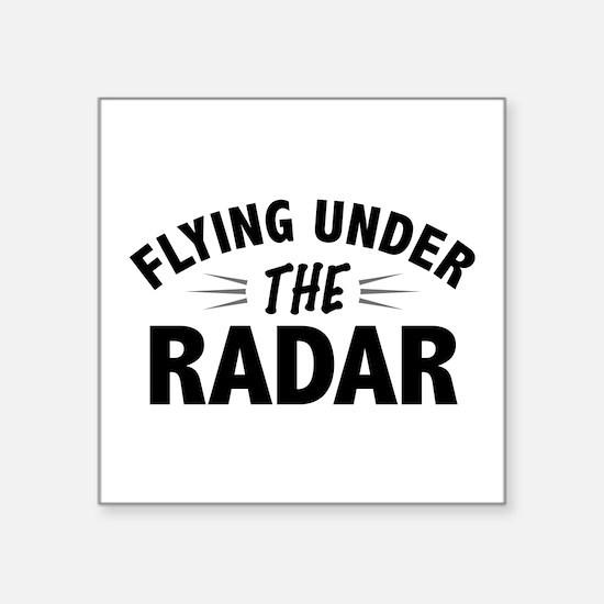 Flying Under the Radar Sticker