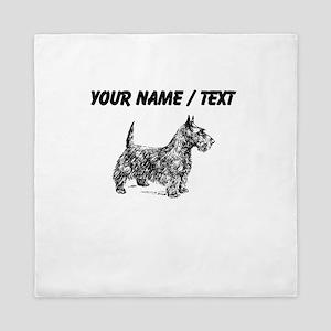 Custom Scottish Terrier Sketch Queen Duvet