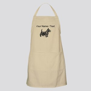 Custom Scottish Terrier Sketch Apron