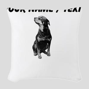 Custom Rottweiler Woven Throw Pillow
