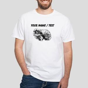 Custom Pekingese Sketch T-Shirt