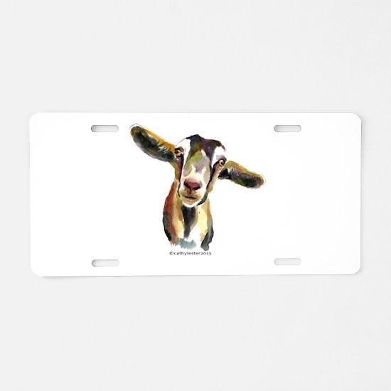 Goat Aluminum License Plate