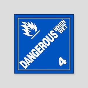 ADR Sticker - 4 Dangerous When Wet
