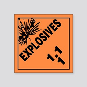 ADR Sticker - 1.1 Explosives