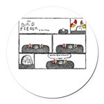 Happy Birthday Round Car Magnet