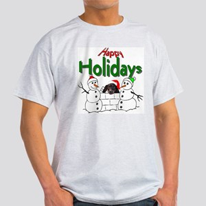 Dachshund Christmas Ash Grey T-Shirt