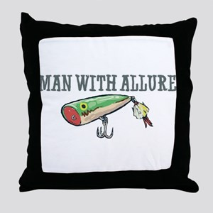 Man With Allure Throw Pillow